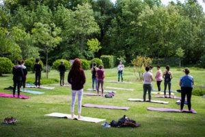 cours nature en extérieur weekend yoga