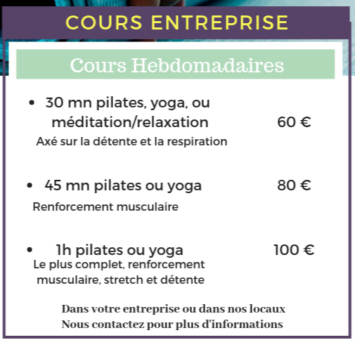 yoga pilates en entreprise borderouge
