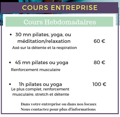 yoga pilates en entreprise avenue des etats unis