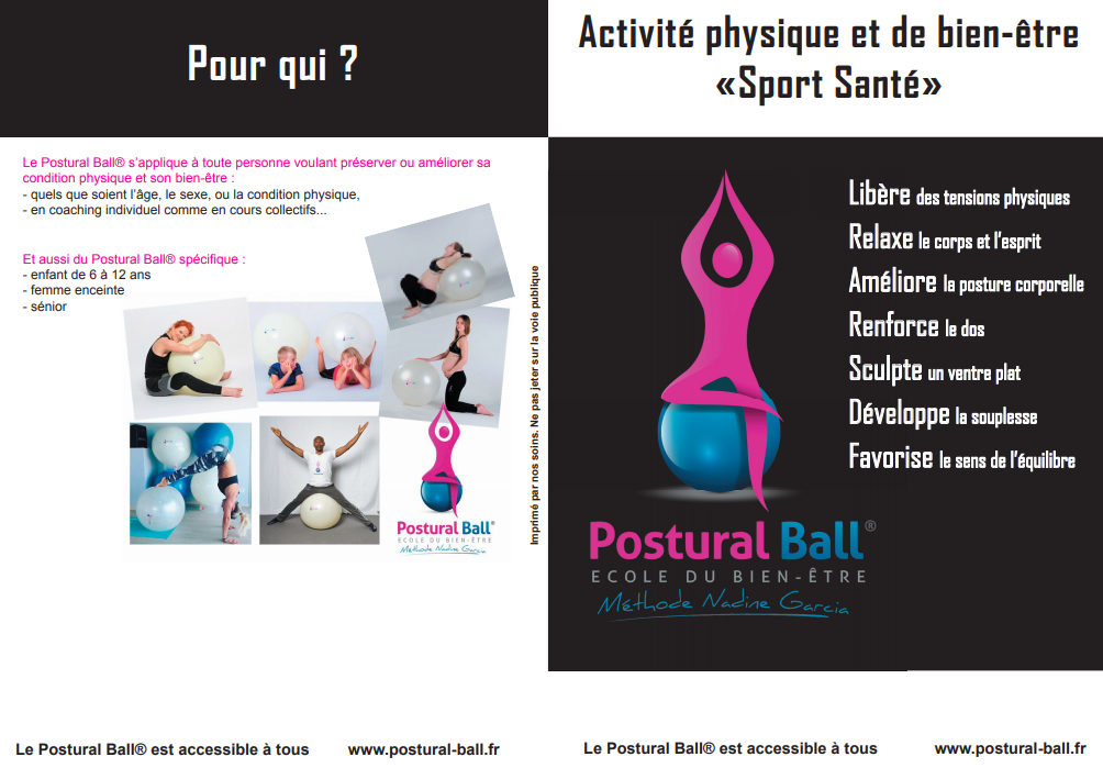 postural ball, gym dos et détente, toulouse