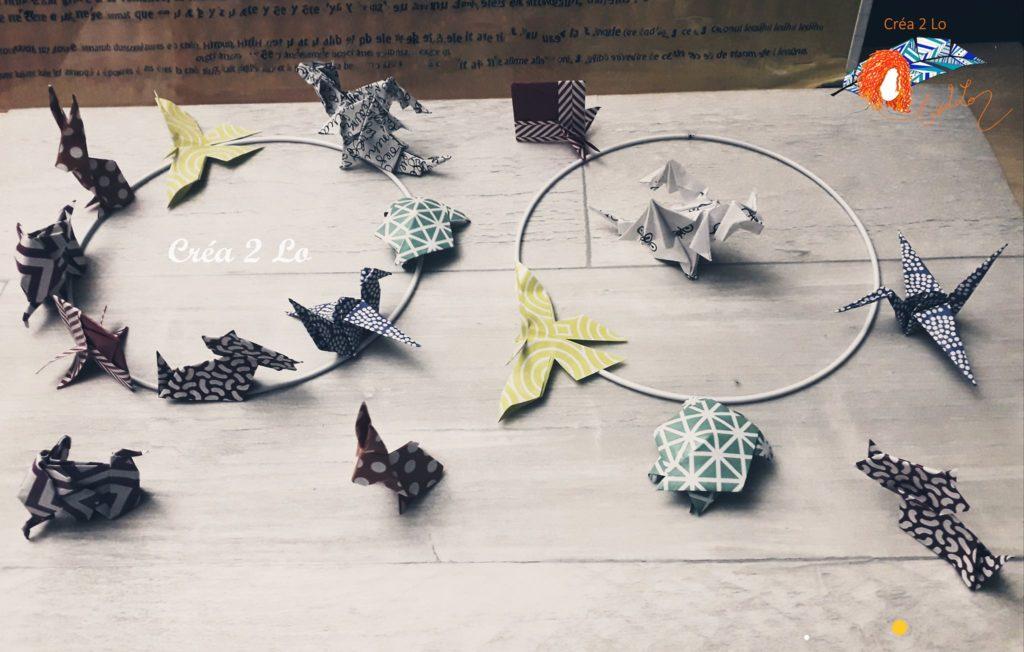 porte bonheur en origami